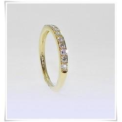 Alianza diamantes oro amarillo