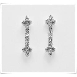 Pendientes Diamantes doble...