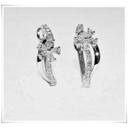Pendientes flor diamantes