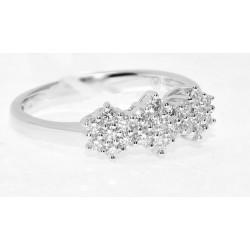 Sortija tresillo diamantes