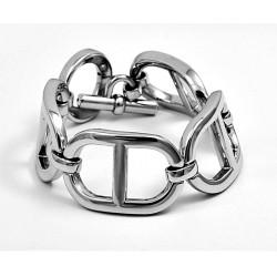 pulsera plata eslabones marina