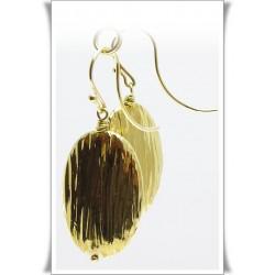 Pendientes ovalados oro...