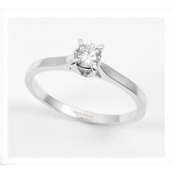 Solitario Oro blanco diamantes